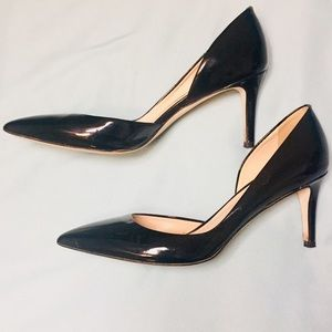 Black Leather J. Crew Heels! Made in Italy!